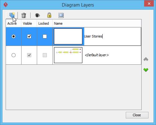 Adding user stories layer