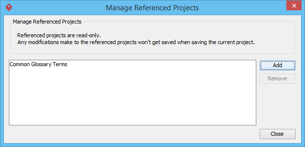 Manage referenced projects