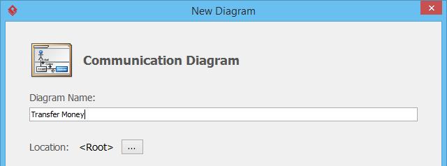 Create communication diagram in Diagram Navigator