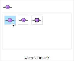 Select conversation link