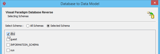 Select schema