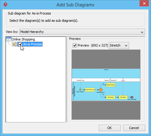 Add sub diagrams window