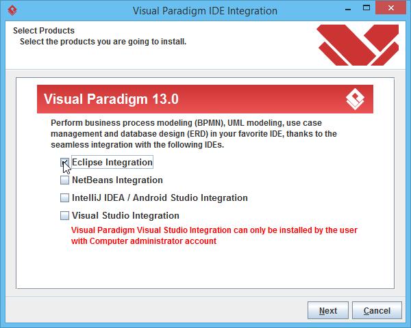Select Eclipse integration
