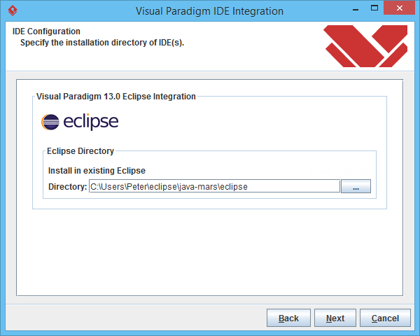 Specify Eclipse path