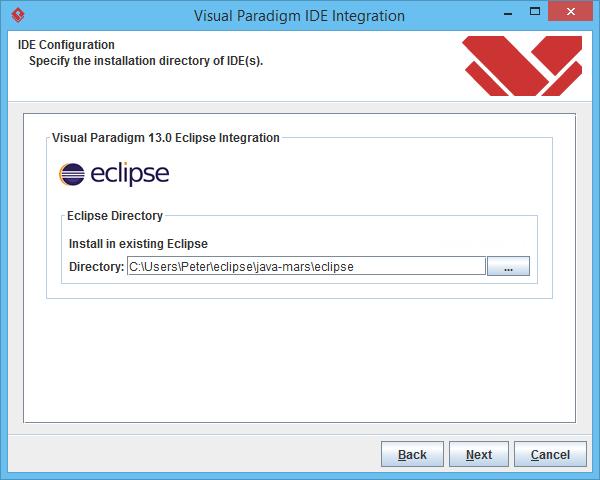Specify Eclipse path