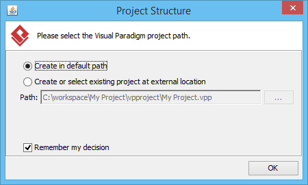 Confirm project path