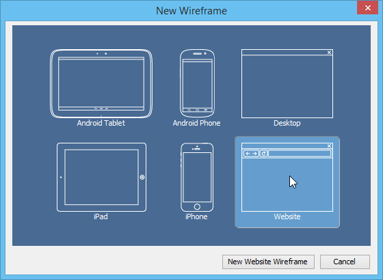 New wireframe window