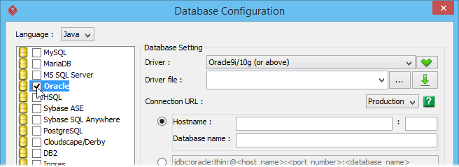 Generate Hibernate Mapping for Oracle Database