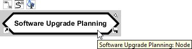 Mouse over central idea node