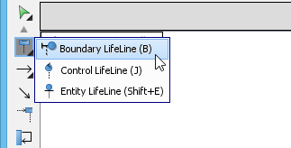 How to draw uml sequence diagram select boundary lifeline b from the diagram toolbar ccuart Image collections