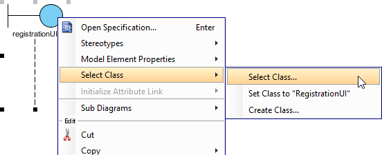 How to draw uml sequence diagram select class for lifeline ccuart Gallery