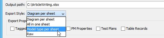 Select Model Type per Sheety