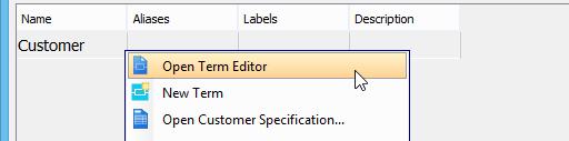 Open term editor