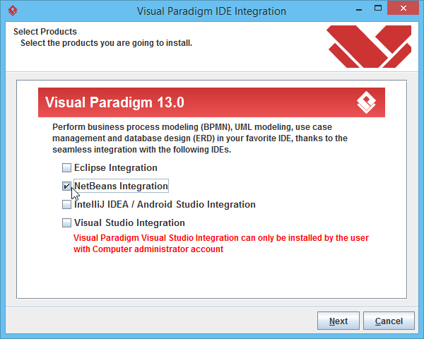 2 select netbeans integration - Visual Paradigm Viewer