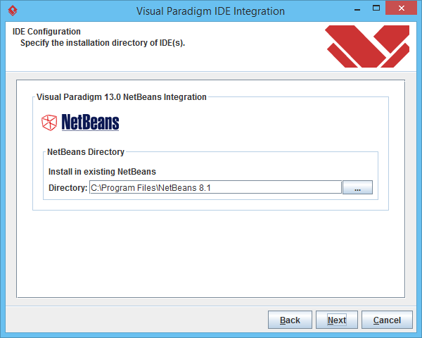 3 specify netbeans location - Visual Paradigm Viewer
