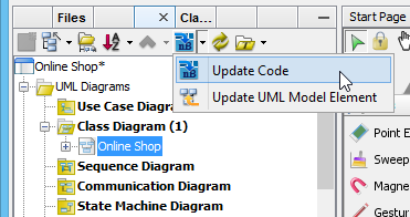 How to draw uml diagrams in netbeans the package onlineshop and product class are there open productjava you can see the product class filled with attributes ccuart Gallery
