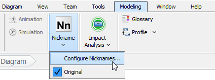 Configure nicknames