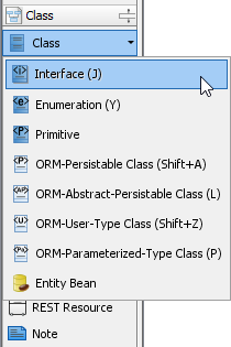 Selecting interface class