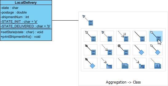 Create aggregated class