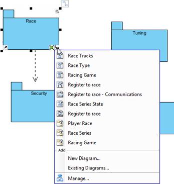 diagram popup