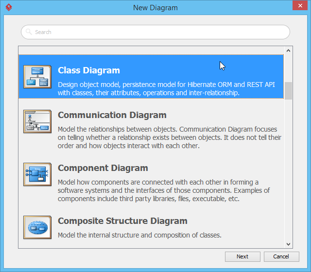 Creating class diagram