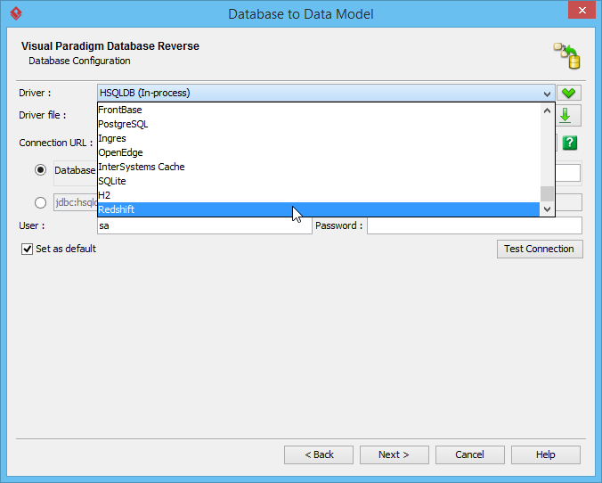 Select Redshift database