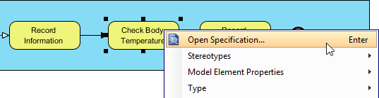 Open task specificatin