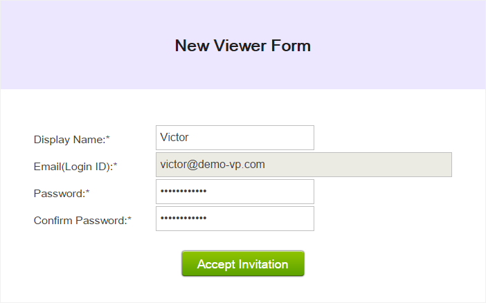 the new viewer form