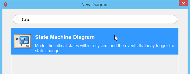 selected state machine diagram
