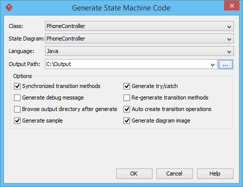 generate state machine code