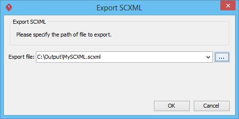 export scxml