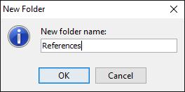 Entering folder name
