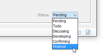 Setting user story to finished state