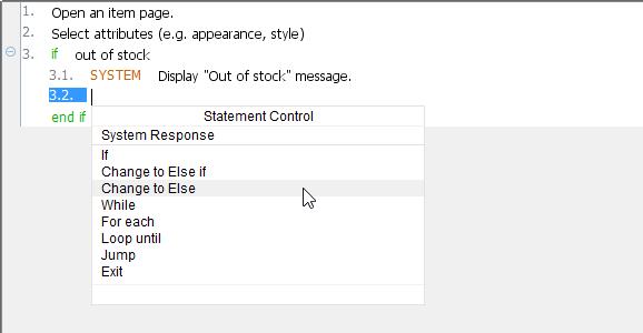 Change to 'Else'