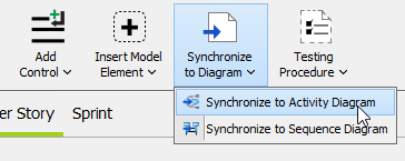 Synchronize to Activity Diagram