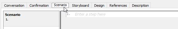 Open Scenario page