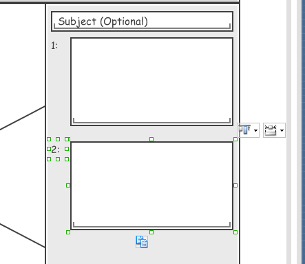 duplicate label and text field