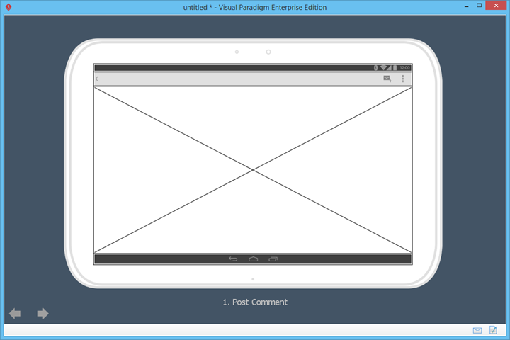 wireframe slideshow