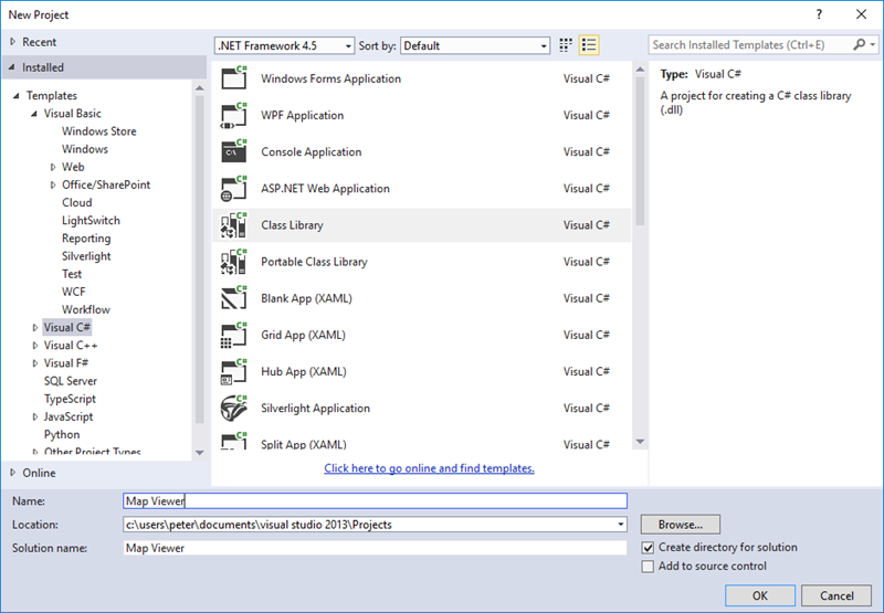 01 new project generating c from class diagram in visual studio?
