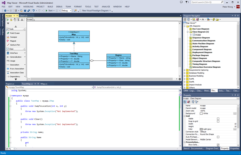 Generating C  From Class Diagram In Visual Studio
