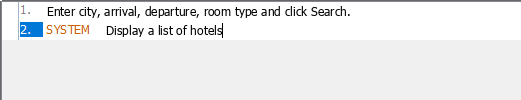 System response added