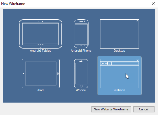 Select website wireframe