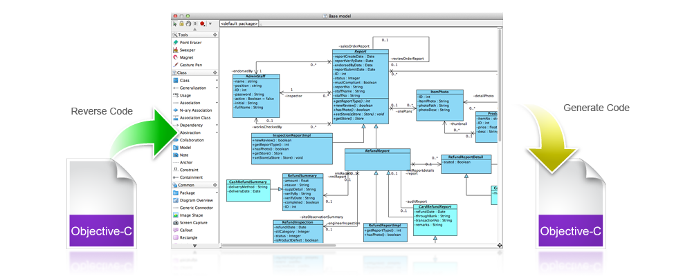 code_engineering first class uml modeling experience on mac os x
