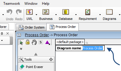 name of class diagram