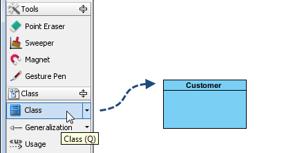 create the customer class