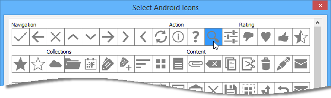 change to search icon