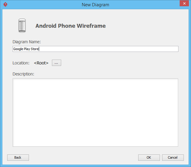 Naming Android wireframe