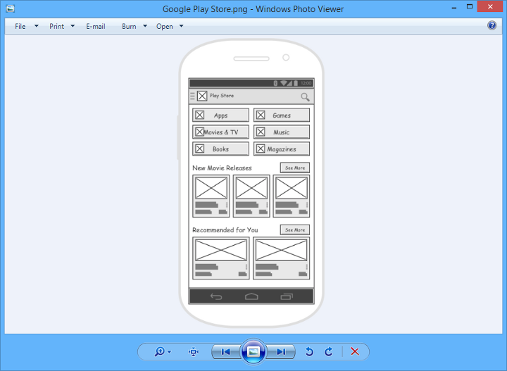 wireframe in png - Visual Paradigm Viewer