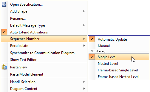select to number messages on diagram (single level)