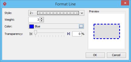 format line